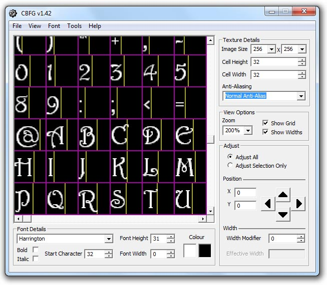 Codehead's Bitmap Font Generator